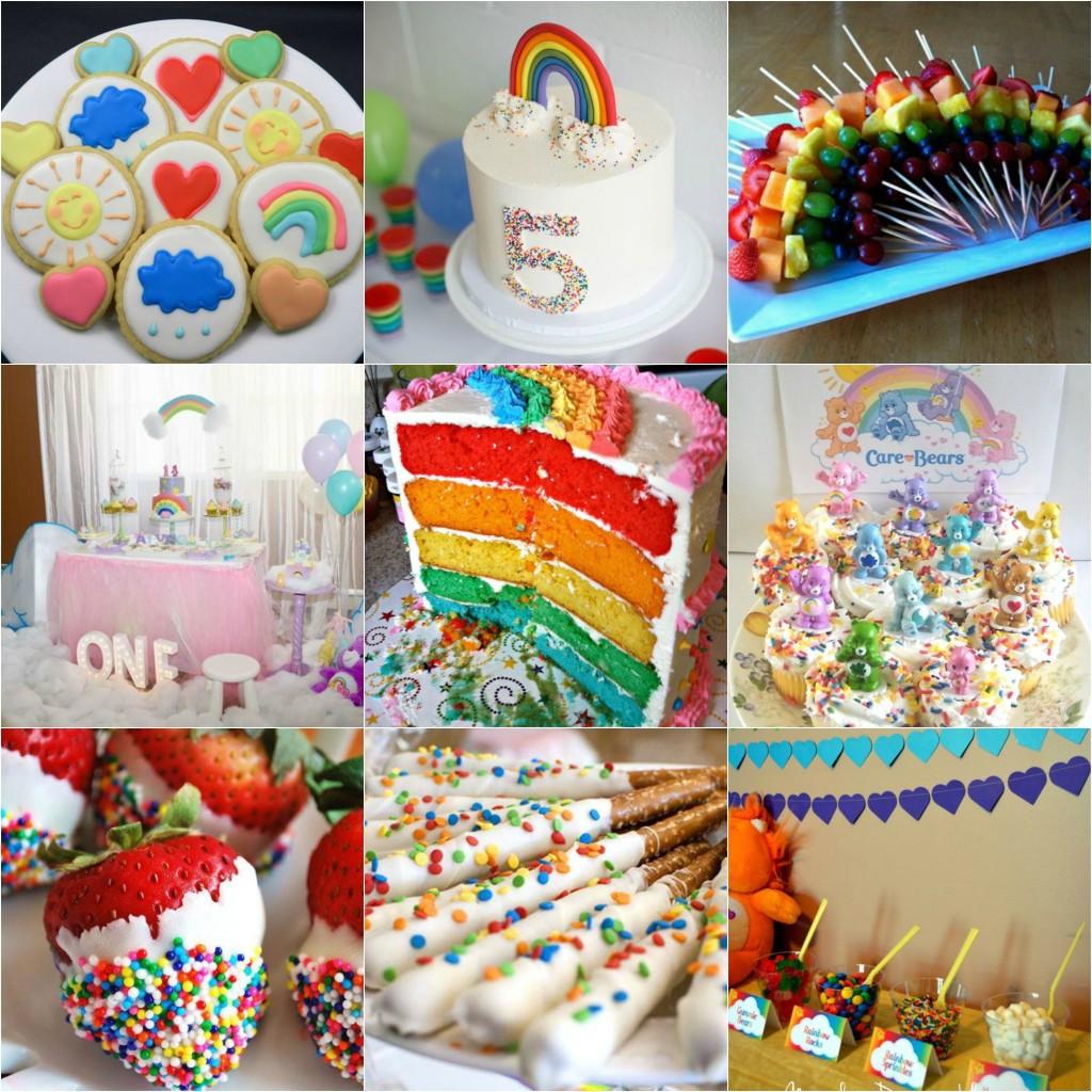 Care Bear Birthday Party Decor - rainbow colors