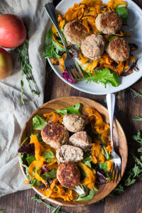 paleo turkey apple meatballs