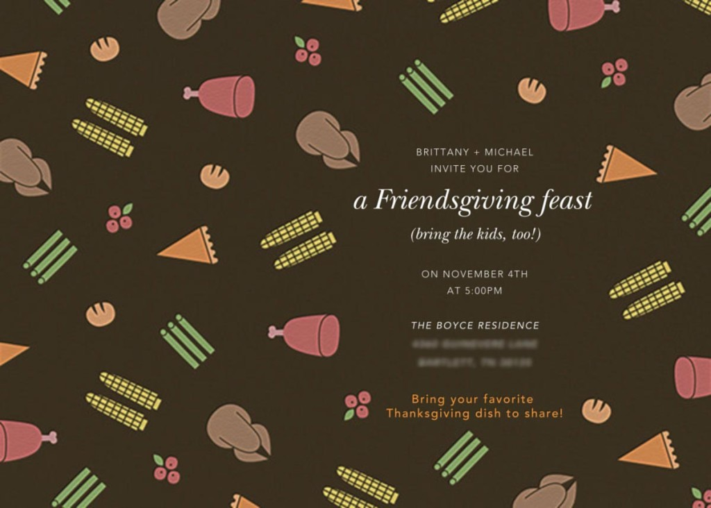 Paperless Post Friendsgiving Invitation
