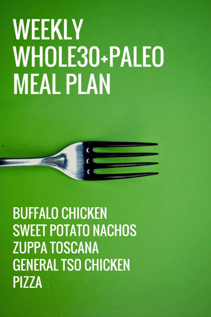 Weekly Meal Plan Whole30-Paleo