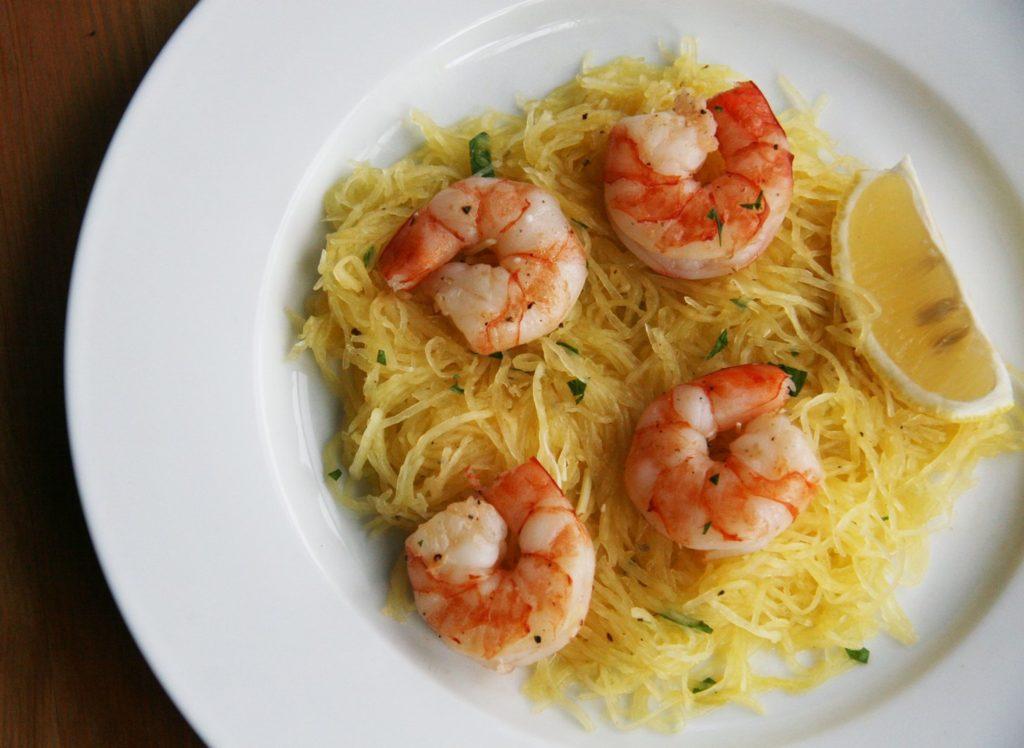 Lemon Shrimp Spaghetti Squash Paleo Recipe