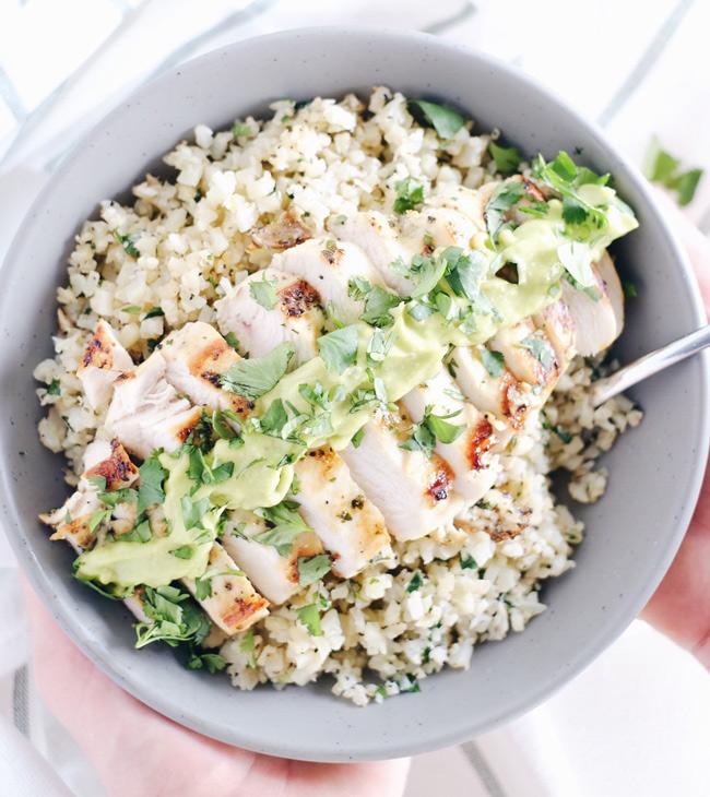 cilantro lime chicken bowl paleo