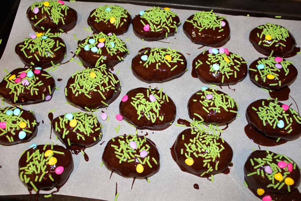 Peanut Butter Easter Eggs Covered in Chocolate