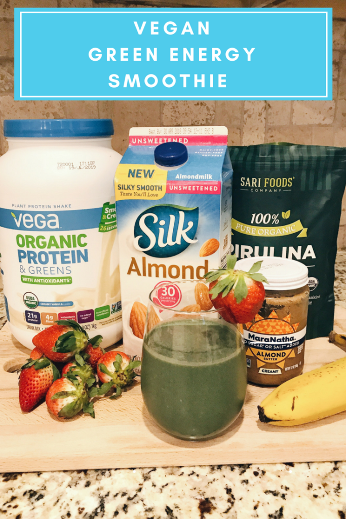 Vegan Green Energy Smoothie Recipe