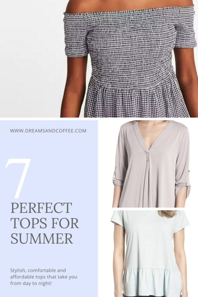 Seven Perfect Summer Tops for Busy Mamas on the Go