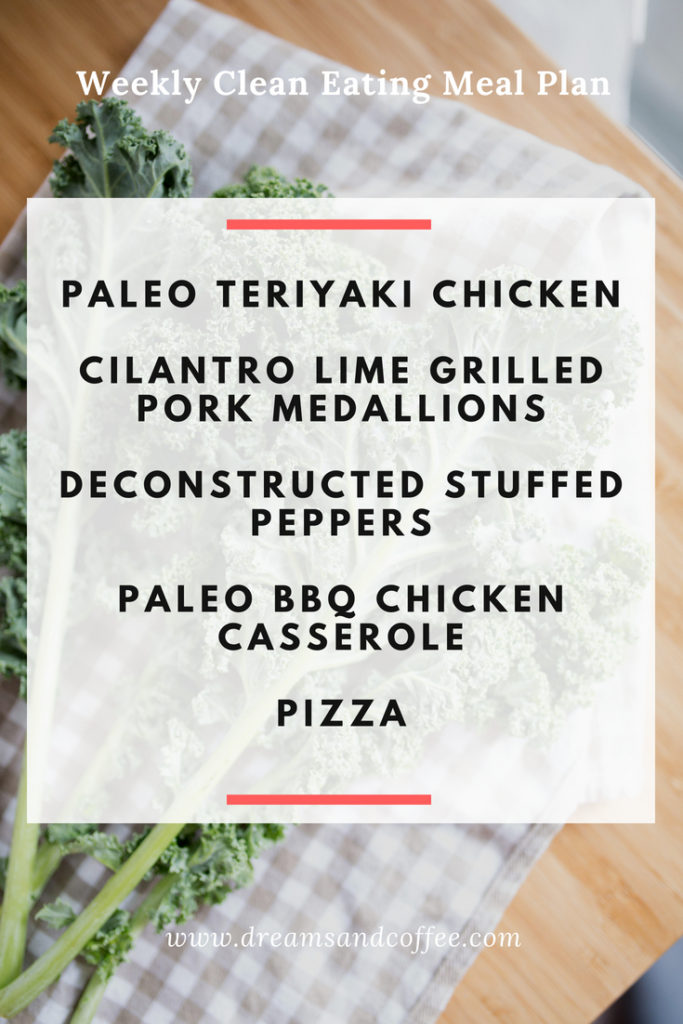 Clean Eating Meal Plan - Paleo and Whole30