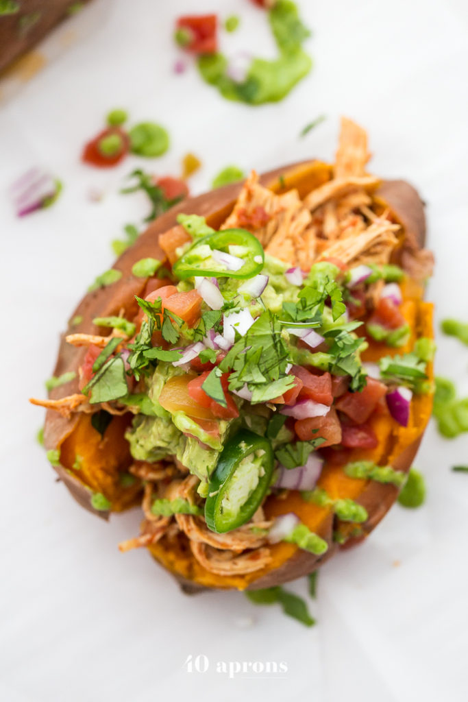 whole30-instant-pot-mexican-stuffed-sweet-potatoes-4clean eating meal plan mexican potatoes