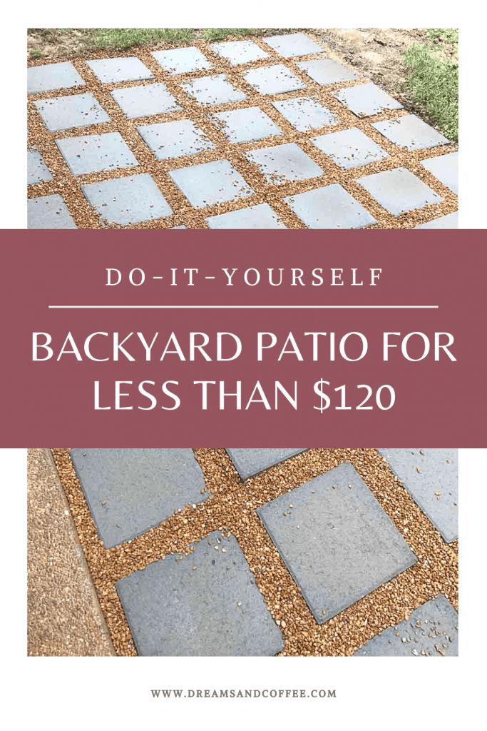 Build a DIY Patio Under $120