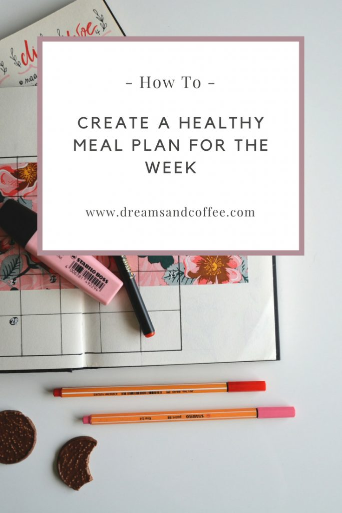 how i create a healthy meal plan for the week dreams coffee