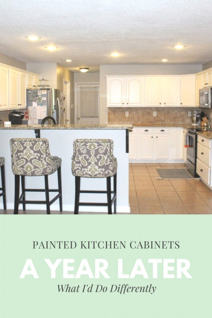 DIY Painted Cabinets - White Kitchen