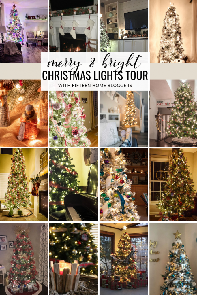 Cozy Christmas Lights at Night Home Tour