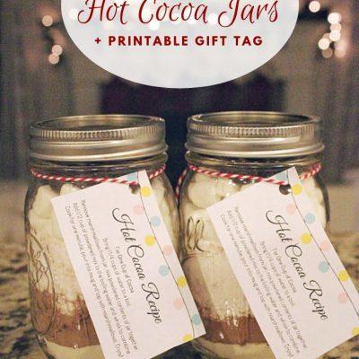 Homemade Hot Cocoa Jars + Printable Gift Tag
