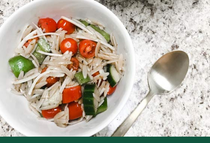 Vegetable + Orzo Pasta Salad with Balsamic Dressing | Recipe