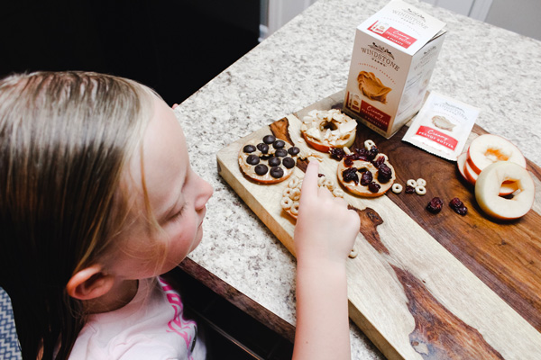 Fun Snack Ideas for Kids | Apple + Peanut Butter Rings