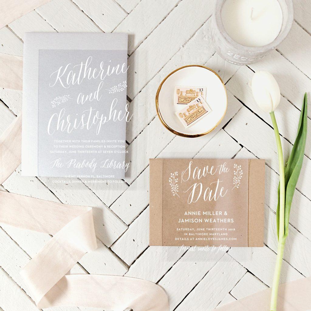 wedding planning process - choosing invitations