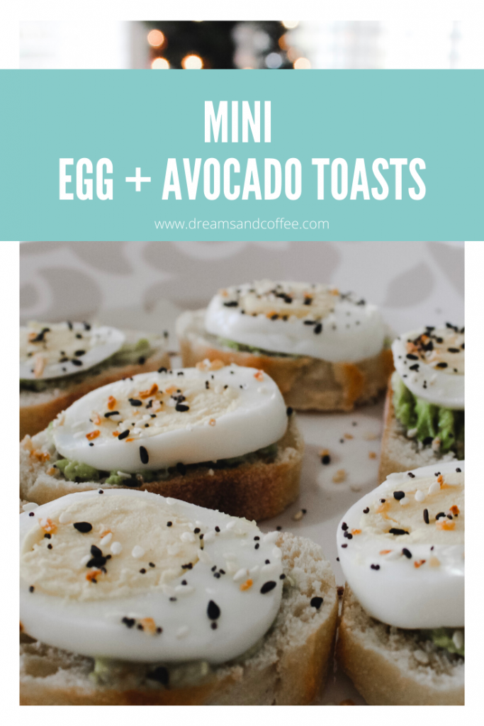 Mini Egg and Avocado Toasts