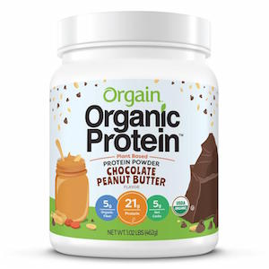 Orgain Chocolate Peanut Butter Protein Powder