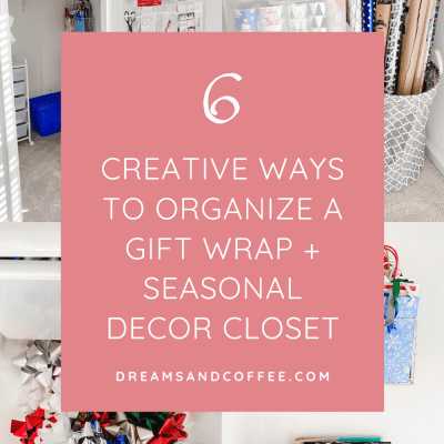DIY Walk-In Closet Organization |Home Decor + Gift Wrap Storage