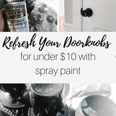 How to Refresh Doorknobs with Spray Paint | DIY