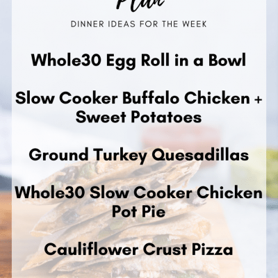 Meal Plan Monday #6   Clean Eating Dinner Ideas