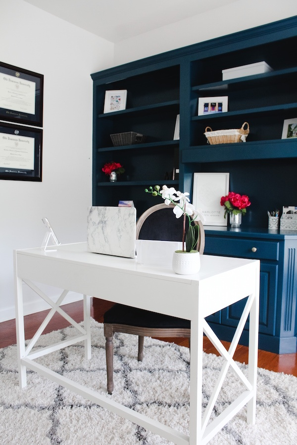 Home Office Reveal | DIY Painted Built-Ins