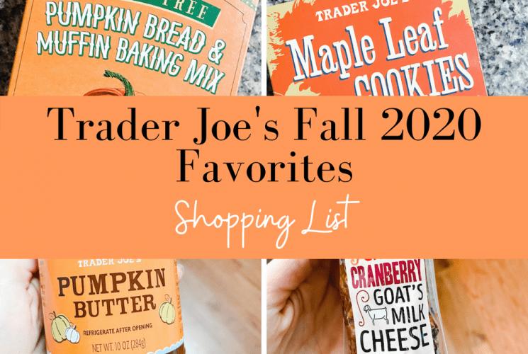 Trader Joe's Fall Favorites