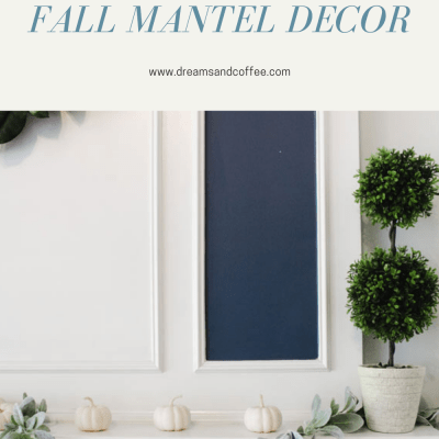 The Perfect Neutral Fall Mantel | Living Room Update