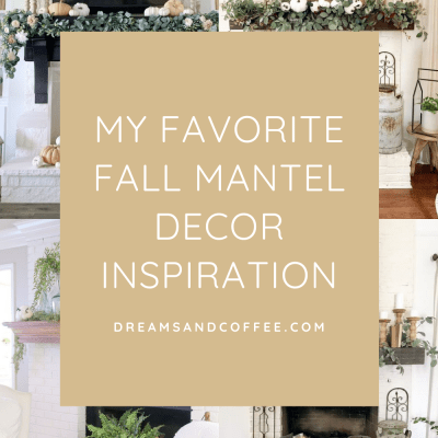 Fall Mantel Decor Inspiration | Neutral White + Green