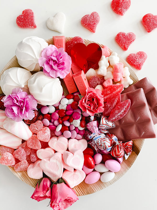 Valentine Candy Charcuterie Board Ideas