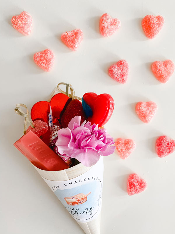 Valentine Charcuterie Cones